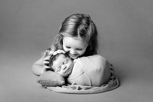 Newborn baby in a prop